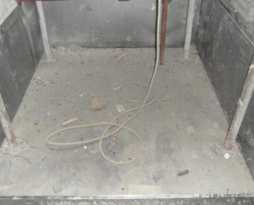 Costruzione della fossa ascensore.