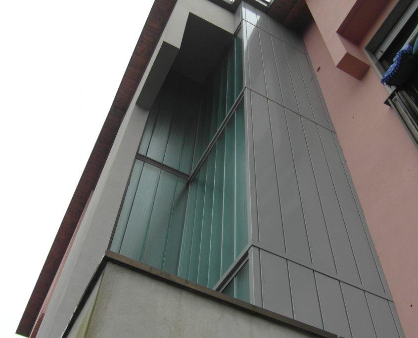 Vista verticale che evidenzia sulla sinistra anche il vano scala esistente.