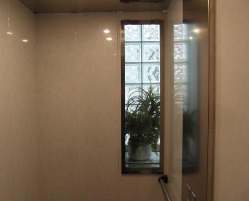 Dettaglio della piccola finestra di cabina