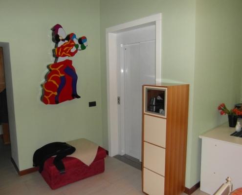 Vista della porta al piano primo