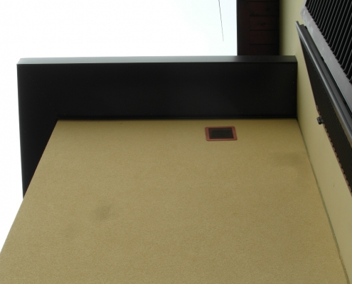 Dettaglio del tetto lato quadro di distribuzione